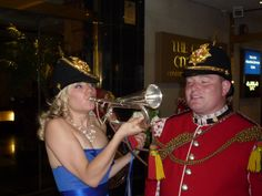 Daughter Kim learns how to play the bugle.