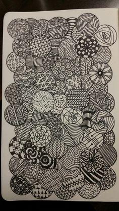 how to draw head Doodle Art Drawing, Zentangle Drawings, Cool Art Drawings, Art Drawings Sketches, Cute Doodle Art, Doodles Zentangles, Drawing Ideas, Zen Doodle Patterns, Doodle Art Designs