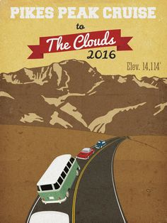 Pikes Peak Cruise to the Clouds 2016 May 14th, 2016 Colorado Springs, Colorado 80904, U.S.A.   Organized by: Pikes Peak Vintage VW and Porsche Cruise to the Clouds Facebook: Colorado