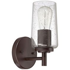 """Quoizel Edison 4"""" Wide Western Bronze Wall Sconce - Style # 6T205"""