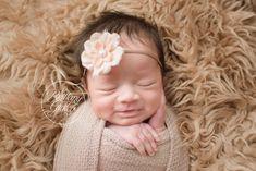 Smiling Newborn Baby Girl | Westlake Newborn Photography | Westlake Newborn Photographer | Ohio Newborn Photography
