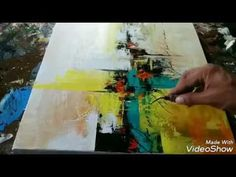 Abstract painting / Painting / Art / Acrylic abstract demonstration - YouTube
