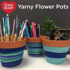 Yarny Flower Pots --