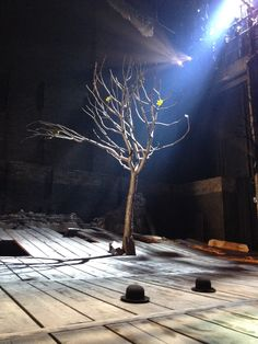"""""""waiting for godot set design rationale Wendell pierce, left, and j kyle manzay rehearsing paul chan's production of """"waiting for godot,"""" set in the badly damaged gentilly neighborhood of new orleans."""