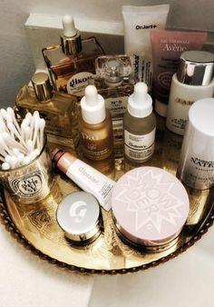 Beauty products I am loving rn. #beauty #skincare #skincareregimen #sephora #glossier #lamer