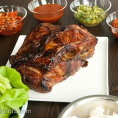 Bo Ssam (braised Pork Nappa Cabbage Wrap) - Korean Kitchen - Zmenu, The Most Comprehensive Menu With Photos Cabbage Wraps, Korean Kitchen, Braised Pork, Pork Recipes, Steak, At Least, Turkey, Menu, Large Format