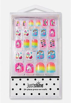 Just Shine Rainbow Unicorn Press-On Nail Set