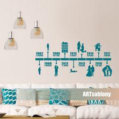 (3792n) Nálepka na stenu -Rodinná os | ARTSABLONY.SK