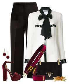 """""""Kick It Up A Notch"""" by jacque-reid ❤ liked on Polyvore featuring Rochas, Moschino, Prada, Jennifer Behr and Steve Madden"""
