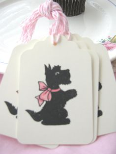 Scottie Dog Gift Tags Scottie Dog Tags Scotty by CharonelDesigns, $4.95
