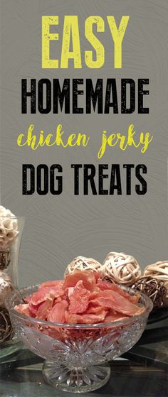 DIY Flavoured Chicken Jerky Treats for Dogs