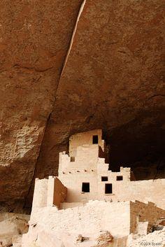 Cliff Palace Building : Mesa Verde, Colorado : by Jack Brauer