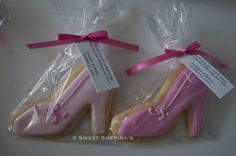 High Heel shoes custom cookies for a bridal shower  ©SweetSherina's
