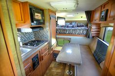 Open feel in a non-slide camper
