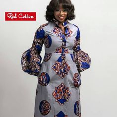 Bague de mariage : Long Kaftan Shirt Dress from RED COTTON Contact us on - Flashmode Belgium African Maxi Dresses, African Fashion Ankara, Latest African Fashion Dresses, African Dresses For Women, African Print Fashion, Africa Fashion, African Attire, African Wear, Ankara Dress