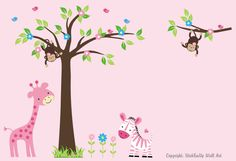 This is going in Sophie's room!  Nursery Wall Decals  Baby Wall Decals  164   by StickEmUpWallArt, $164.95