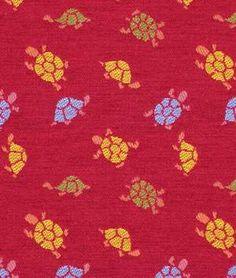 Robert Allen Little Turtles Flame Fabric - $69.25 | onlinefabricstore.net