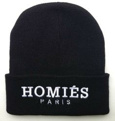 e63de0d5d57 HOMIES PARIS Beanie hat winter warm knitted caps for man and women hip hop  Skullies cool. Cool BeaniesNike ...
