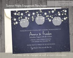 Invite Using Laterns to match theme for party at Marina