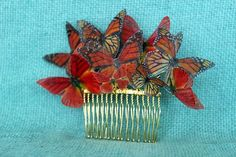 Butterfly Hair Comb Wedding Hair comb Prrom Hair by JustStylish, $35.00