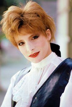 Mylène Farmer - Tournage du clip Libertine - Photographe : Bernard Leloup - 1986