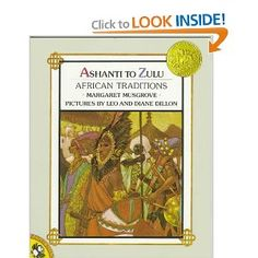 Ashanti to Zulu: African Traditions by Margaret Musgrove. Illustrations by Leo and Diane Dillon earned this book the 1977 Caldecott Medal. Zulu, African Words, African Art, African Traditions, African Tribes, Diane, Children's Picture Books, African Culture, Children's Literature