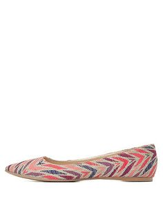 Geo Print Pointy Toe Ballet Flats: Charlotte Russe