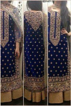 Luscious Velvet and Embroidery Dress code Anarkali Dress, Red Lehenga, Lehenga Choli, Sharara, Golden Lehenga, Pakistani Bridal, Indian Bridal, Bridal Lehenga, Pakistani Outfits