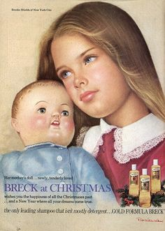 Breck Shampoo Ad 1974 with Brooke Shields