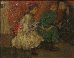 """Emily Coonan – """"Children Reading"""" 1914"""