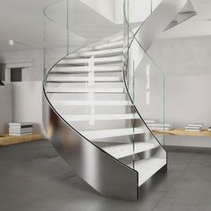 CAST - COLLECTIONS - Spiral stairs - straight stairs - modular stairs - suspended stairs - wall-fixed stairs - iron stairs - crystal stairs - tempered glass stairs - iron stairs - laser cut stairs - wooden stairs Spiral Staircase Dimensions, Staircase Metal, Staircase Railings, Glass Handrail, Glass Stairs, Glass Balustrade, Steel Stairs, Wood Stairs, Home Stairs Design