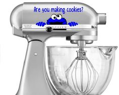 Decals   Cookie Monster Are You Making Cookies Decal   Cookie Monster    Kitchen Aid Decal