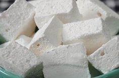 Homemade marshmallows-to go with chocolate dipped coffee spoon stirrers.