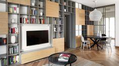 L'appartamento che una giovane coppia ha ristrutturato in attesa dell'arrivo di Emma. Il desiderio era abitare in uno spazio capace di farli sentire a casa.
