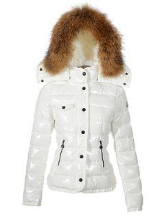 Cheap Womens Moncler Armoise Down White Jackets