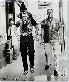 """Elvis with deejay """"Daddy-O"""" Dewey Phillips (May 1926 – September on Beale Street in Memphis, TN on June Rock And Roll, Are You Lonesome Tonight, Graceland Elvis, Young Elvis, Daddy, Elvis Presley Photos, Memphis Tennessee, Downtown Memphis, Norma Jeane"""