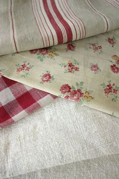 Antique French fabric....lovely!