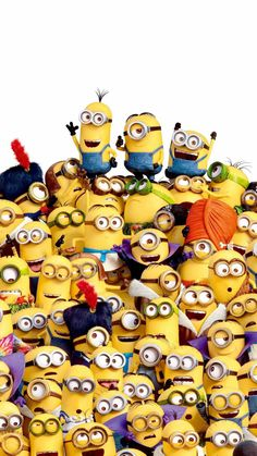 Happy Minions, Happy Birthday Minions, Cute Minions, Minion Wallpaper Iphone, Disney Phone Wallpaper, Minion Banana, Hd Cute Wallpapers, Minion Characters, Cute Bunny Cartoon