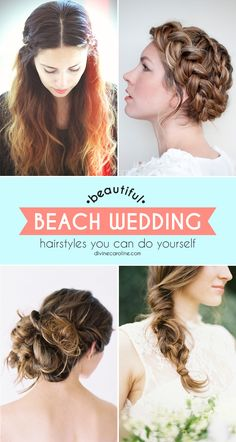 We've rounded up the prettiest beach wedding hairstyles that you can do yourself. #BeachWedding #WeddingHair