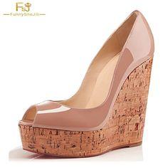 faa5dd4c7f7 2018 So Kated Princess Wedding Cork Wedges Valentine Women s Platform 5CM  Nude Clogs High Heels 16CM