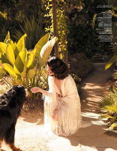 Lana Del Rey for L'Officiel Paris magazine, April 2013. Photograph by Nicole Nodland.