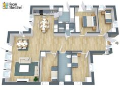""""""" RoomSketcher is a fast, fun and a very professional way of visualizing your new remodelling project, your new apartment or new built house. The journey from thought to realization of your project has never been easier! """" - Tom Roberg, Engineer http://www.roomsketcher.com/home-improvement/"""