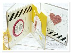 Papierrascheln: Mini-Album zum Valentinstag