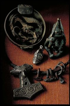 Items from the Viking age in the Swedish History Museum.