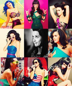 Katy Perry; SO expressive and silly, love her