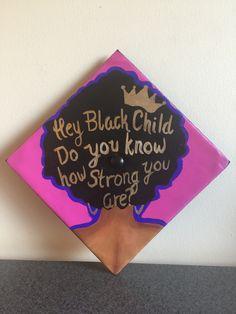 05cc418dfa7 Black girl magic graduation cap!