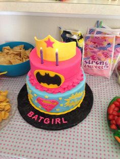 Batgirl's 2nd Birthday cake!