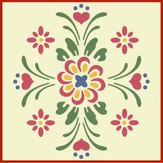 Rosemaling, Rosemaling stencil at theartfulstencil