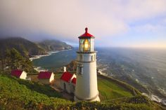 Heceta Head Lighthouse, Oregon Coast, Pacific Ocean, Pacific Northwest Photographic Print