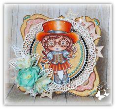 Magic Craft Land by Henryka: Monday inspiration for La-La-Land AUTUMNAL COLOUR *** Inspiracja poniedziałkowa dla La-La-Land KOLORY JESIENI Magic Crafts, Monday Inspiration, Copic Markers, Design Crafts, Steampunk, Colouring, Banner, Princess Zelda, Stitch